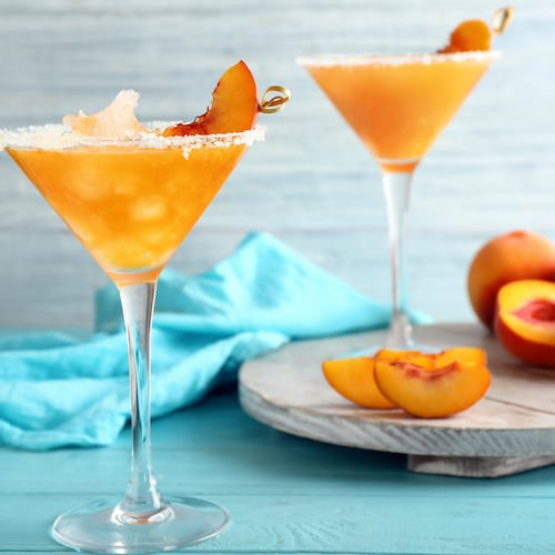 virgin peach margarita in environment