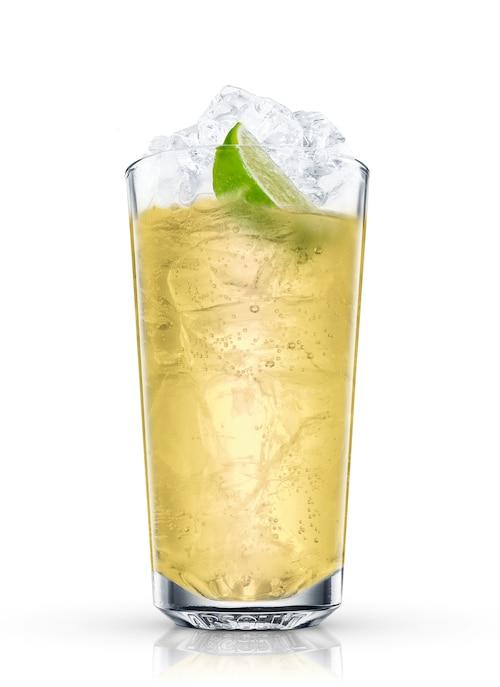 lemonade cooler against white background