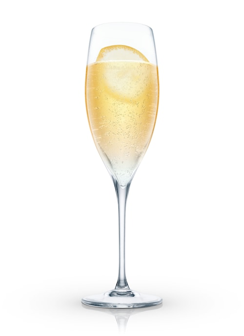 caribbean champagne against white background