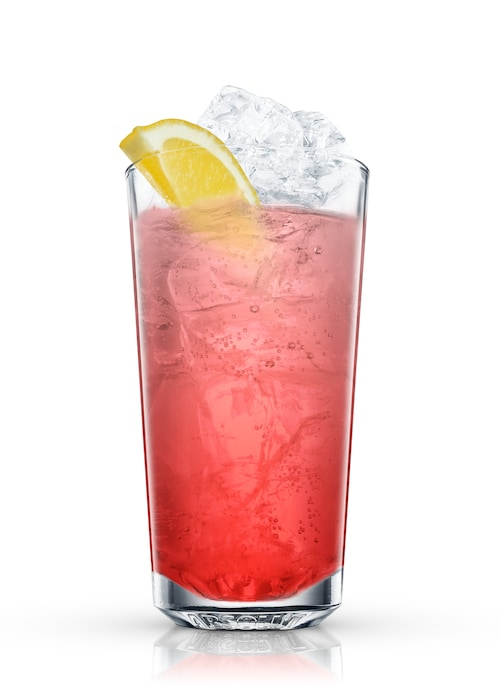 pink tonic against white background
