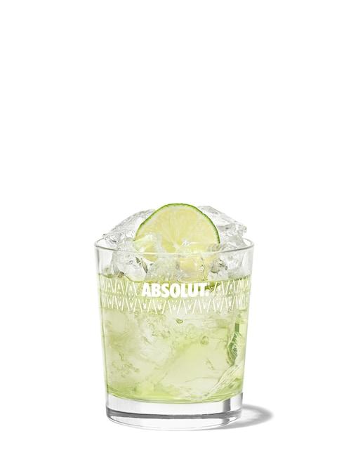 vodka lime against white background