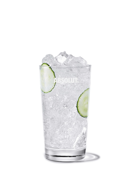 tonic cucumber against white background