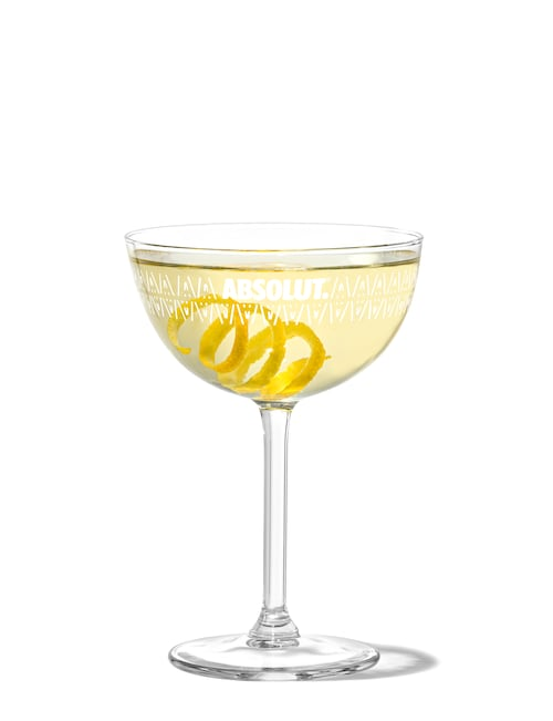 vesper martini against white background