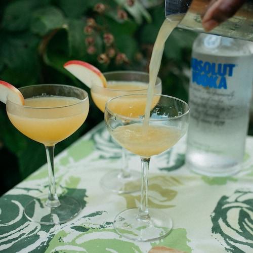 apple martini in environment