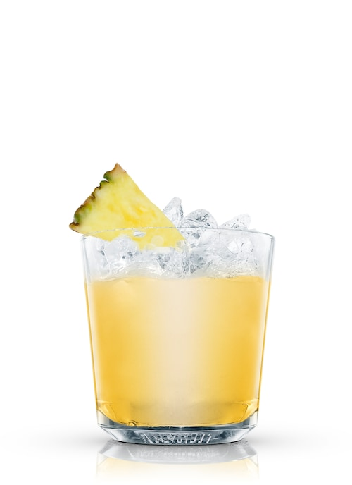 pineapple fizz against white background
