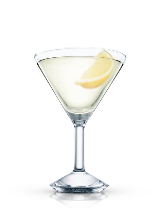 key lime martini against white background