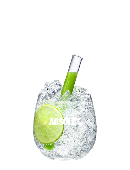 absolut soda spinfusion  against white background