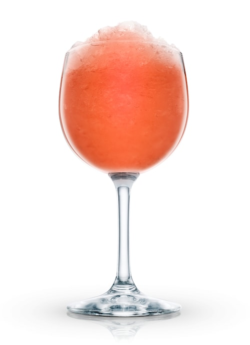 cranberry cream cocktail against white background