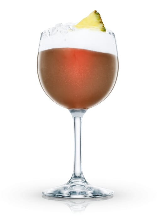 elk's own cocktail against white background
