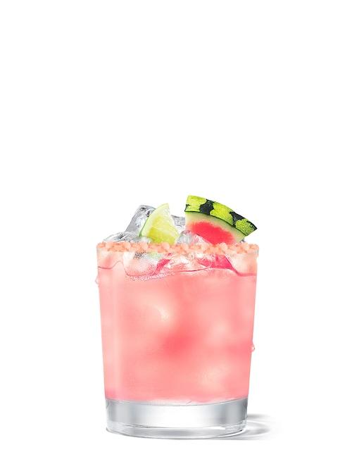 absolut watermelon vodkarita against white background