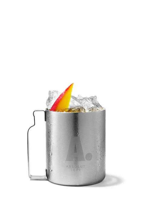 absolut mango mule against white background