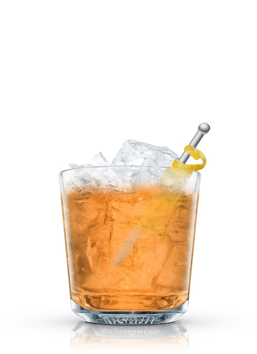 spiced sidecar against white background