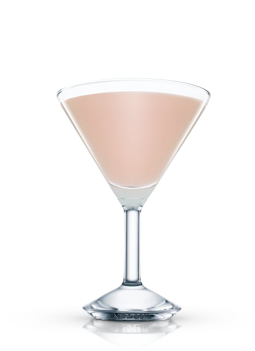 french cocktail against white background