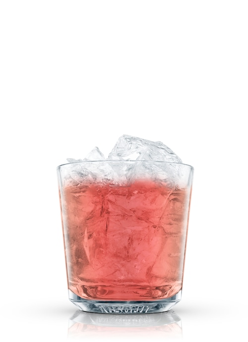 absolut pomegranate julep against white background
