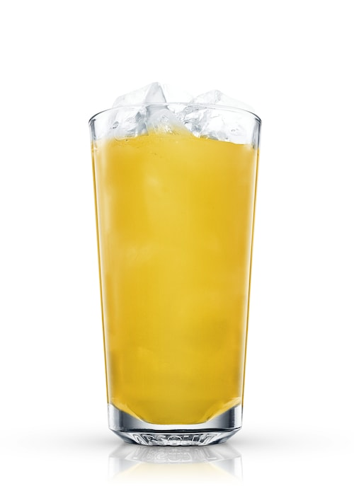 passion fruit punch against white background