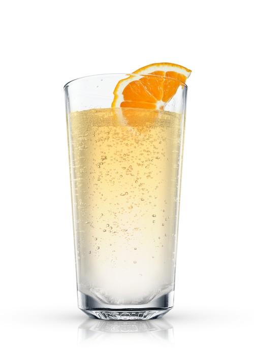 sparkling orange against white background