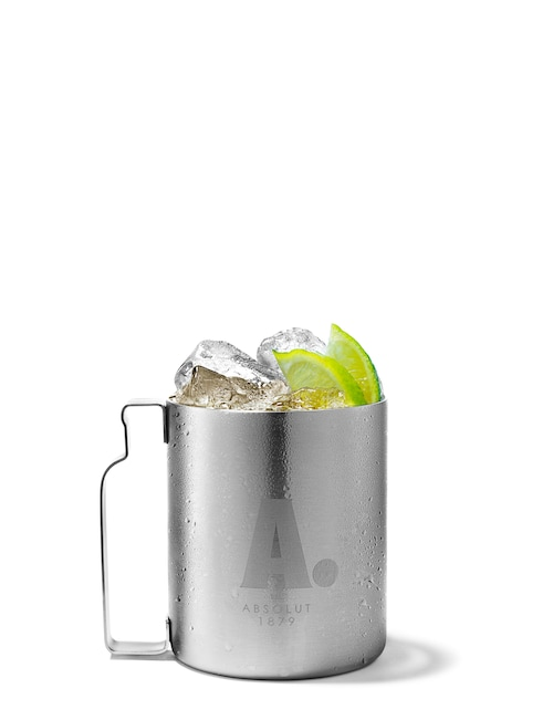 absolut lime mule against white background