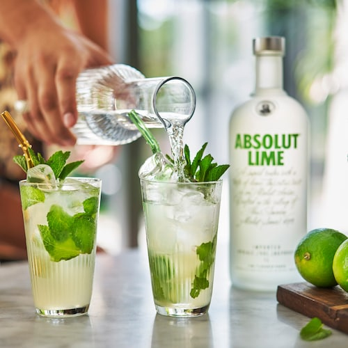 absolut lime mojito in environment