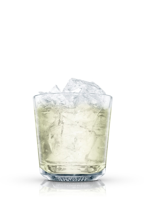 classic margarita on the rocks against white background