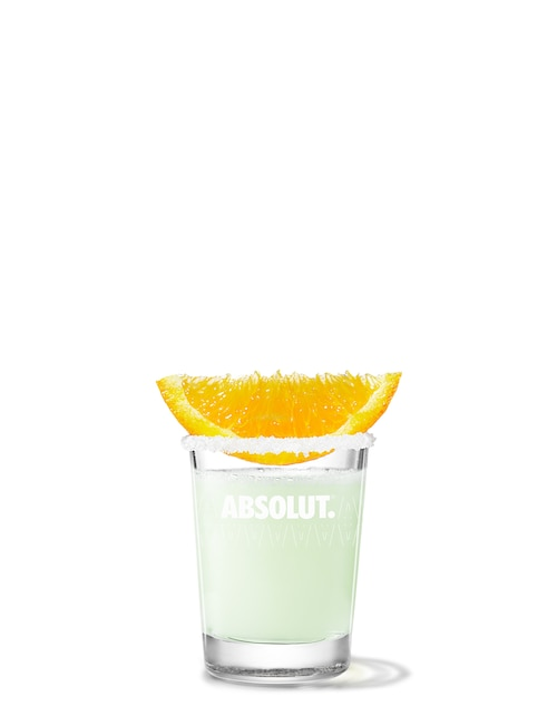 absolut mandrin drop against white background