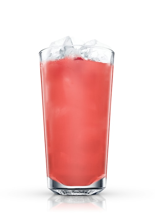 raspberry mule against white background