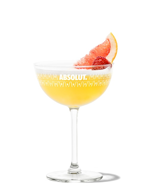 absolut raspberri ruby against white background