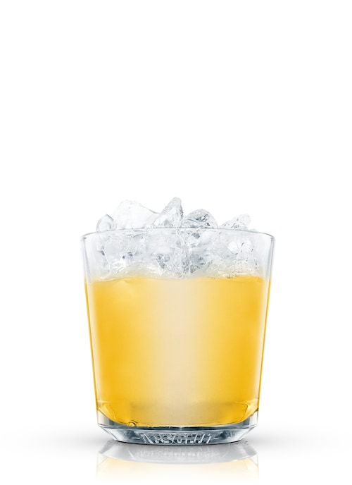 vodka fizz against white background