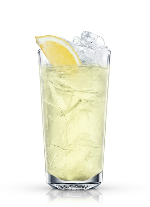 almond iced tea against white background