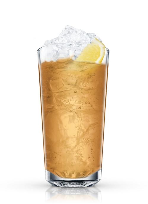 bourbon highball against white background