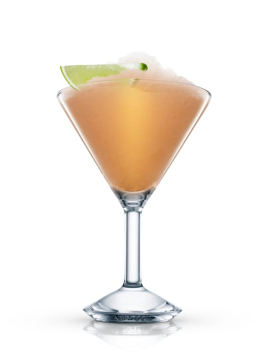 frozen daiquiri against white background
