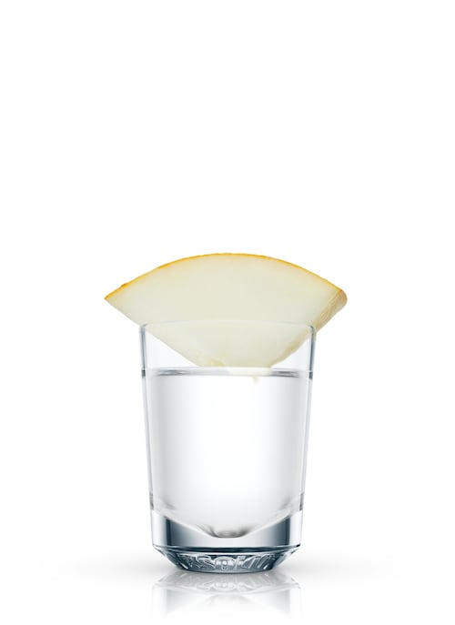 absolut honeymelon shooter against white background