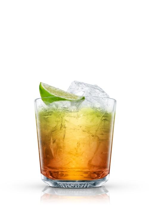 rum gimlet against white background