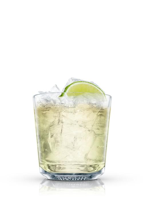 mock whiskey against white background