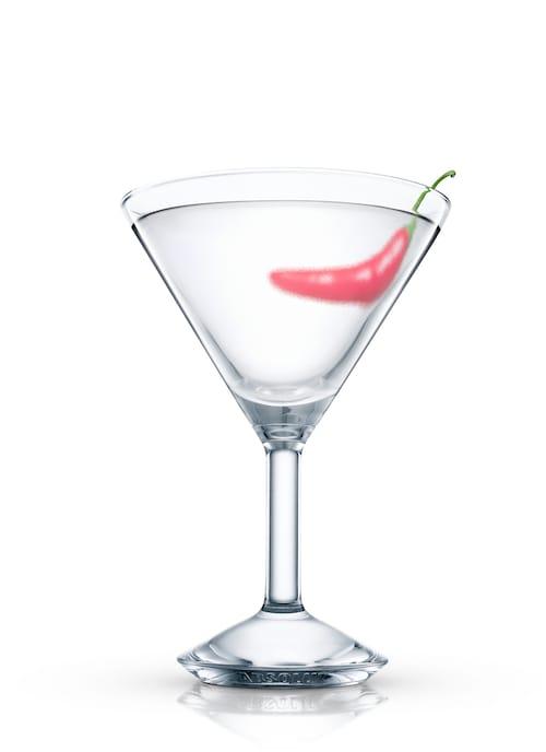 cajun vodkatini against white background