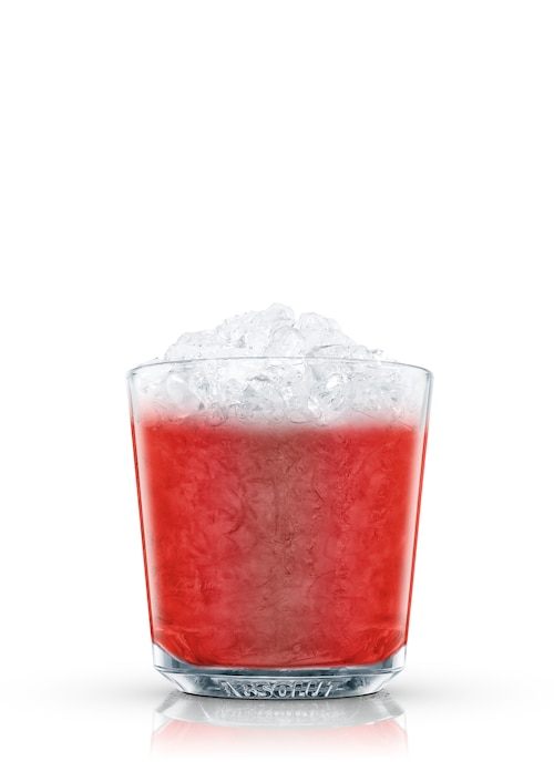 absolut red fruits against white background