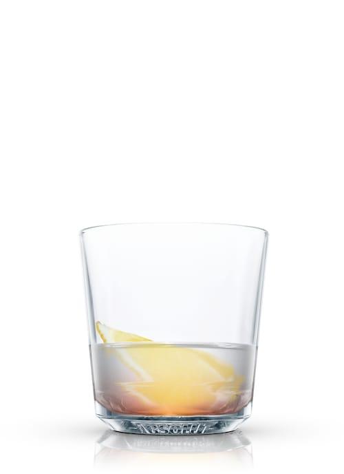 rum toddy against white background