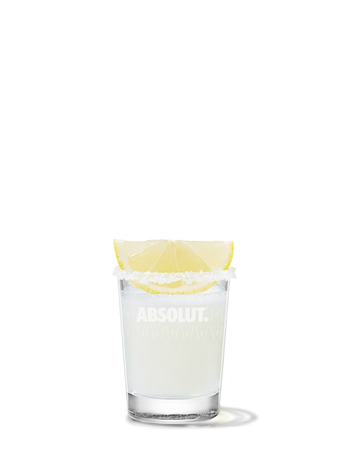 lemon drop against white background