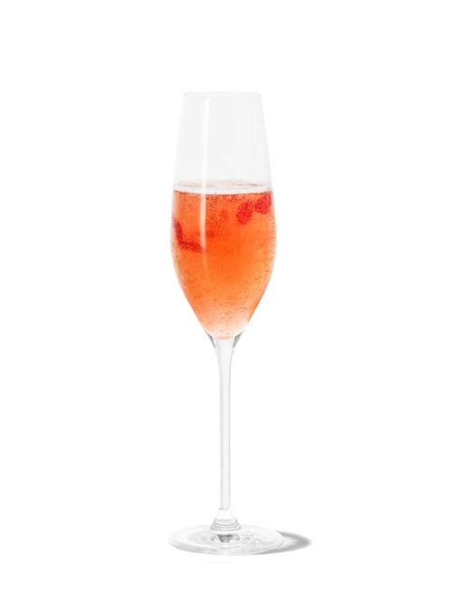faux kir royale against white background