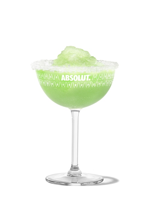 frozen margarita against white background