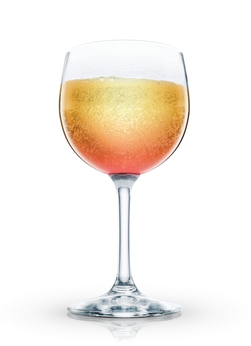 absolut raspberry bellini against white background