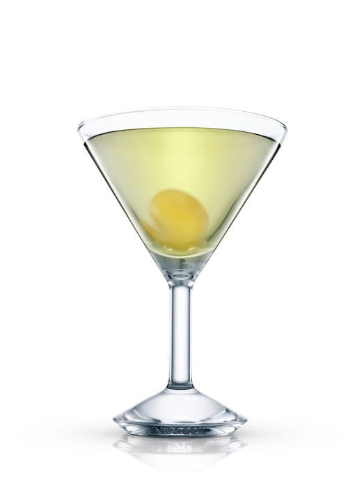 mystic martini against white background