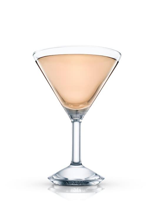 maiden's blush cocktail against white background