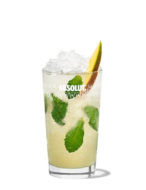 absolut mango mojito against white background