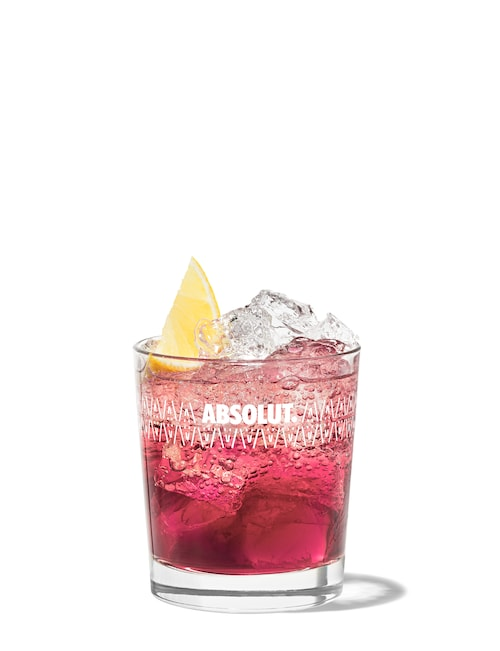 rose kennedy cocktail against white background