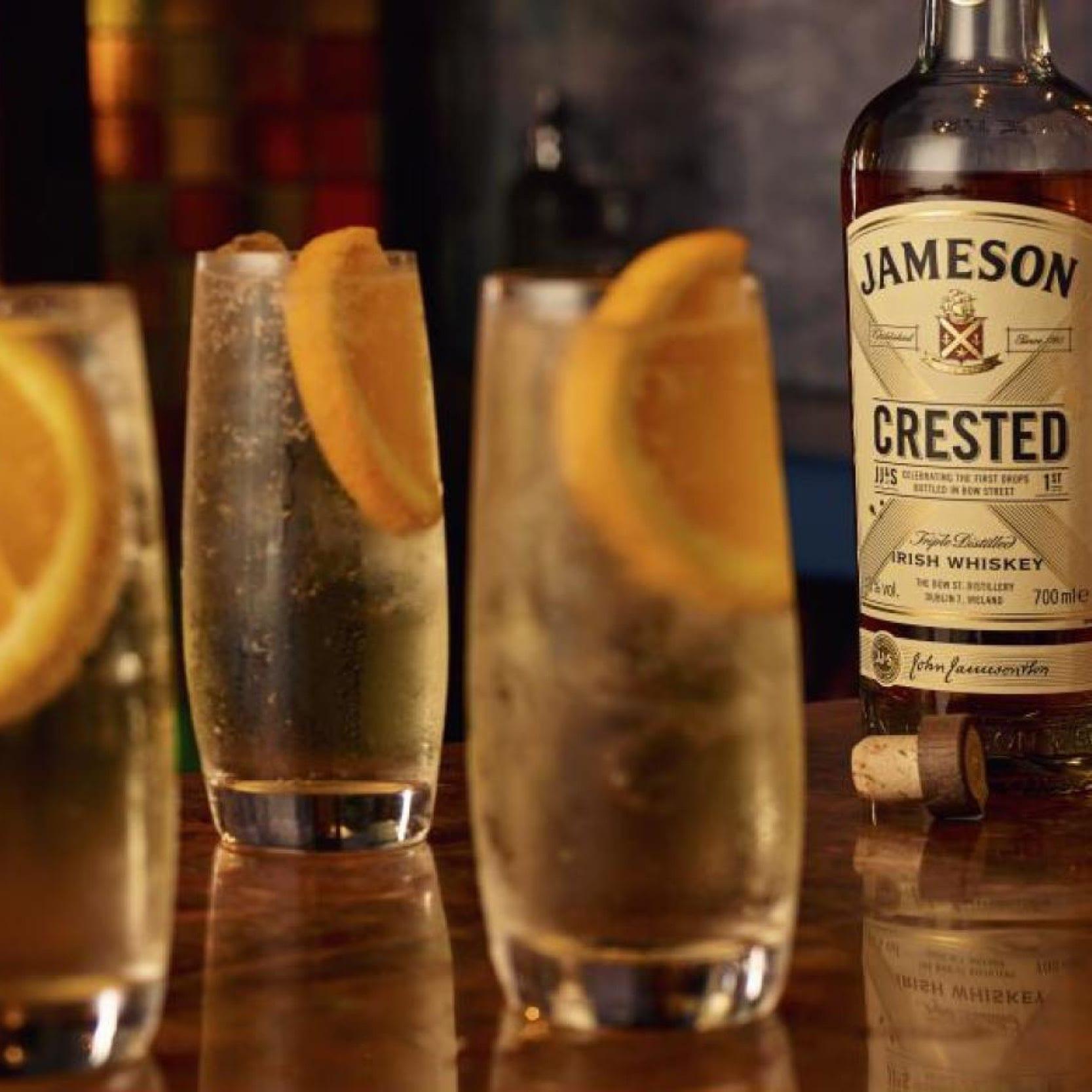 Jameson Crested, Soda and Orange
